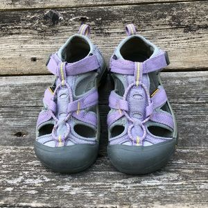 KEEN Waterproof Girls Purple Strap On Sandals